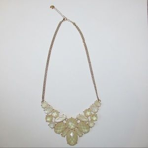 White and gold Francesca's statement necklace